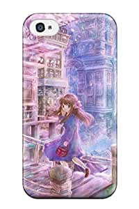 original anime pikuko cities buildings Anime Pop Culture Hard Plastic iPhone 4/4s cases