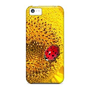 MMZ DIY PHONE CASECynthaskey Scratch-free Phone Case For ipod touch 5- Retail Packaging - Ladybugs Sunflower
