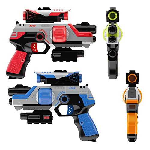 Lazer Tag Gun Set Game - Two to Four Player Laser Tag for Kids - Indoor and Outdoor Family (Infrared Magnum Gun)