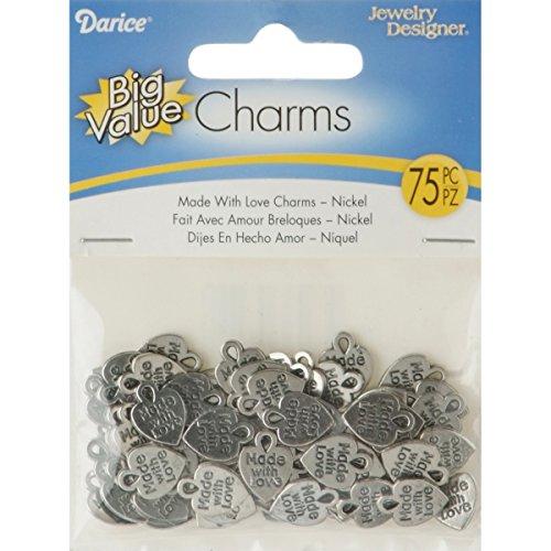 Darice 75 Piece Made Charms Nickel