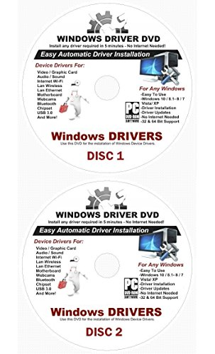 2019 Automatic Driver Recovery [Disc 1 & Disc 2] Drivers for Windows 10, 8.1, 7, Vista, XP Supports Dell HP Gateway Toshiba Gateway Acer Asus Samsung MSI Lenovo Sony IBM Compaq eMachines ⭐️⭐️⭐️⭐️⭐️ ()