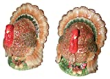 Spode Harvest Turkey Salt and Pepper Shakers with Tray