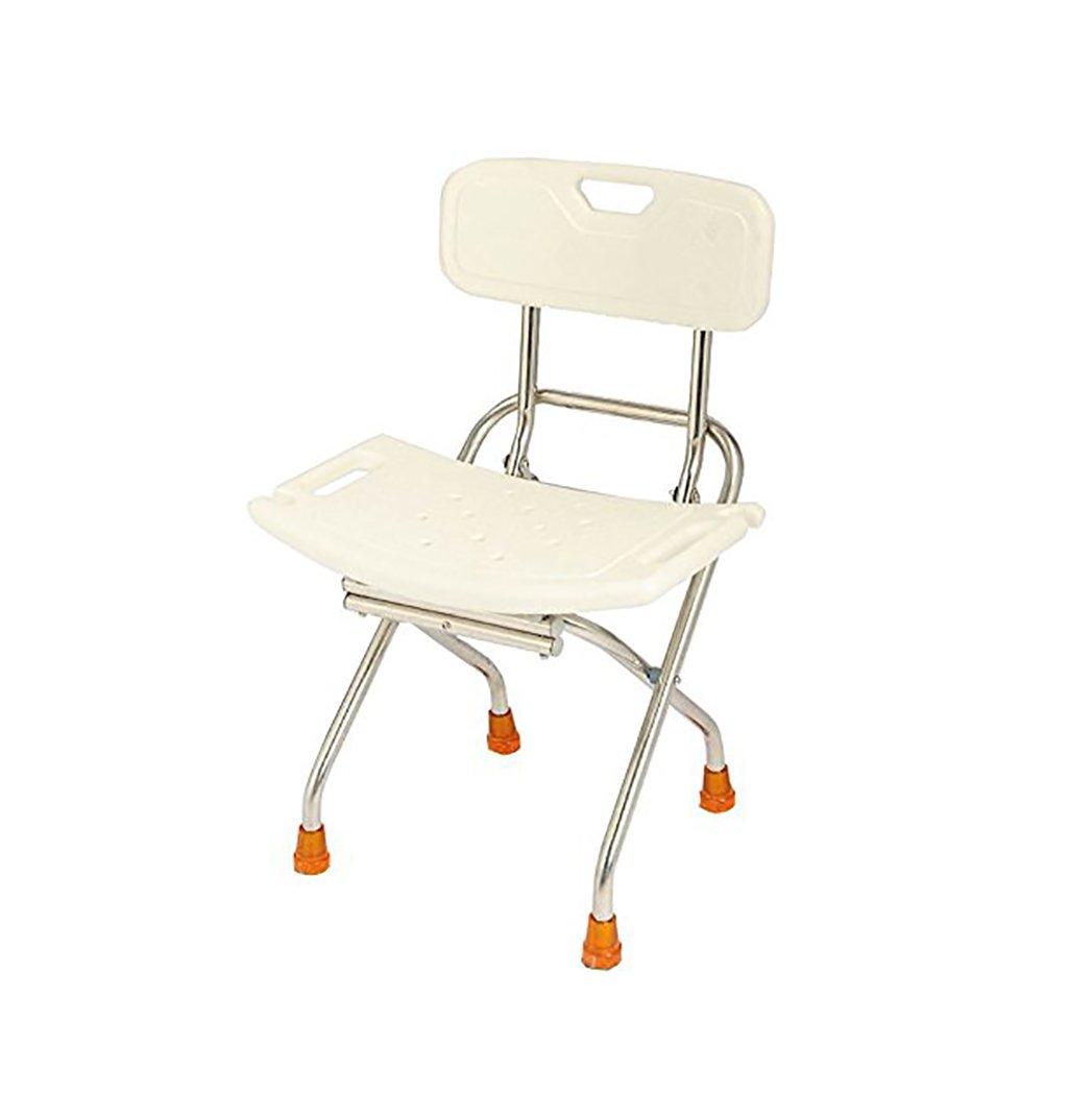 Tabourets de douche - bain Pliable en acier inoxydable siège de douche chaise Femmes enceintes - Personnes âgées -