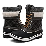 Best Womens Snow Boots - GLOBALWINGLOBALWIN Women's Winter Snow Boots Black/Grey 8.5 M Review