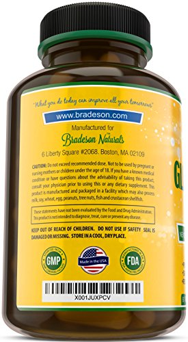 Glucosamine & MSM - 60 Tablets - Joint Support Supplement: Green Lipped Sea Mussel, Chondroitin Sulfate, Chromium, Selenium, Zinc &Vitamins A, B, C, E - Reduce Pain & Inflammation by Bradeson Naturals (Image #1)