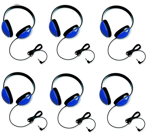 Califone 2800-BL Listening First Headphones in Blue (Set of 6) by Califone