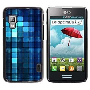 Be Good Phone Accessory // Dura Cáscara cubierta Protectora Caso Carcasa Funda de Protección para LG Optimus L5 II Dual E455 E460 // Blue Pattern