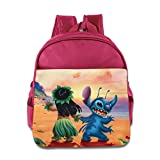 Toddler Kids Lilo & Stitch School Backpack Cartoon Baby Boys Girls School Bags Pink