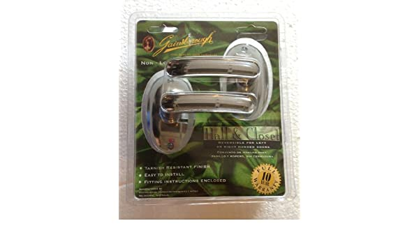 GAINSBOROUGH Metaline Series REGAL BRIGHT CHROME Hall & Closet Passage NON-LOCKING Lever Door Handle Set - Doorknobs - Amazon.com