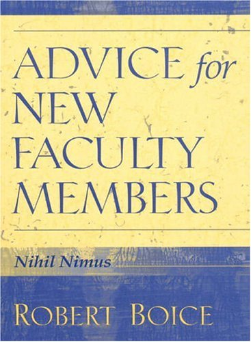 Advice For New Faculty Members  HB NEW FACULTY MEMBERS  C1  Nihil Nimus