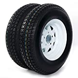 Trailer Tire + Rim ST175/80D13 175/80 D 13'' LRB 5 Bolt Galvanized Spoke, Set of 2
