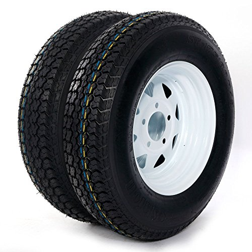 Trailer Tire + Rim ST175/80D13 175/80 D 13'' LRB 5 Bolt Galvanized Spoke, Set of 2 by Bestroad