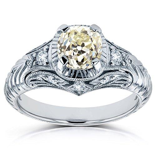 Vintage Old Mine Cut Diamond Ring 1 1/2 CTW in Platinum (Certified) -