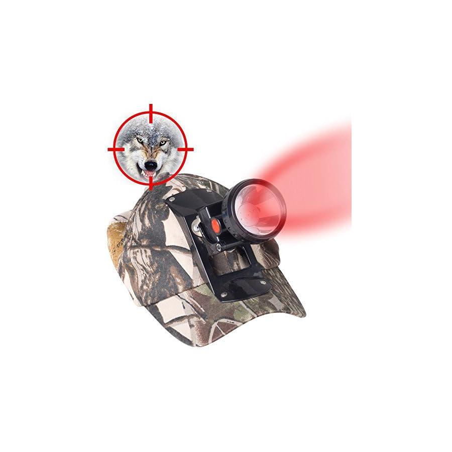 Kohree 3W LED Red Light Cap Hunting Headlight for Coon Predator Coyote Fox Hunting