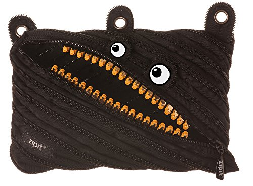 - ZIPIT Grillz 3-Ring Pencil Case, Black