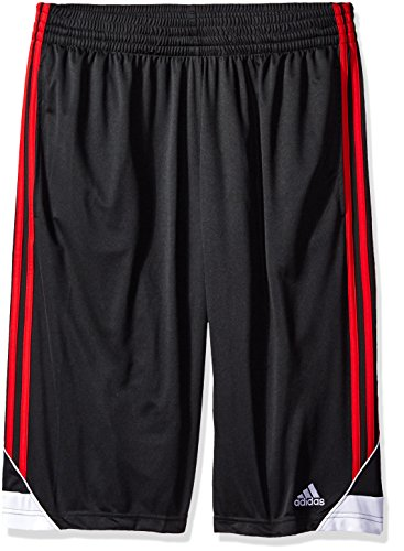 adidas Mens 3G Speed Big & Tall Shorts, Black/Light Scarlet, Large/Tall
