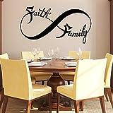 Faith Family Wall Decal Infinity Sign Vinyl Sticker Decals Nursery Baby Room Home Decor Bedroom Art Design Interior NS425