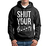 FDLB Mens Shut Your Face Chord Mountaineering Casual Style Hoodie Hoodies L Black