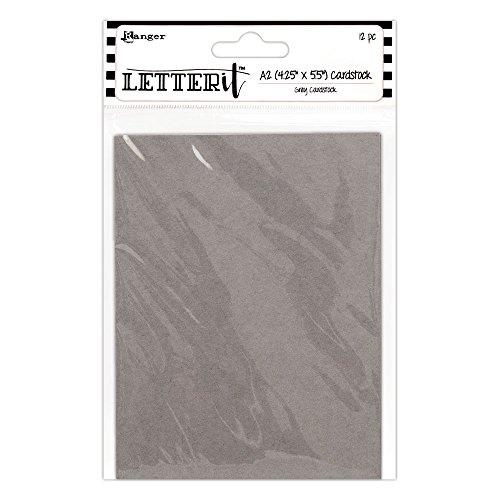 Ranger - Cartulina gris con texto Letter It Cardstock, 12 unidades