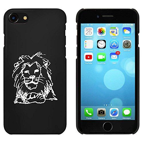 Noir 'Lion de Repos' étui / housse pour iPhone 7 (MC00074421)
