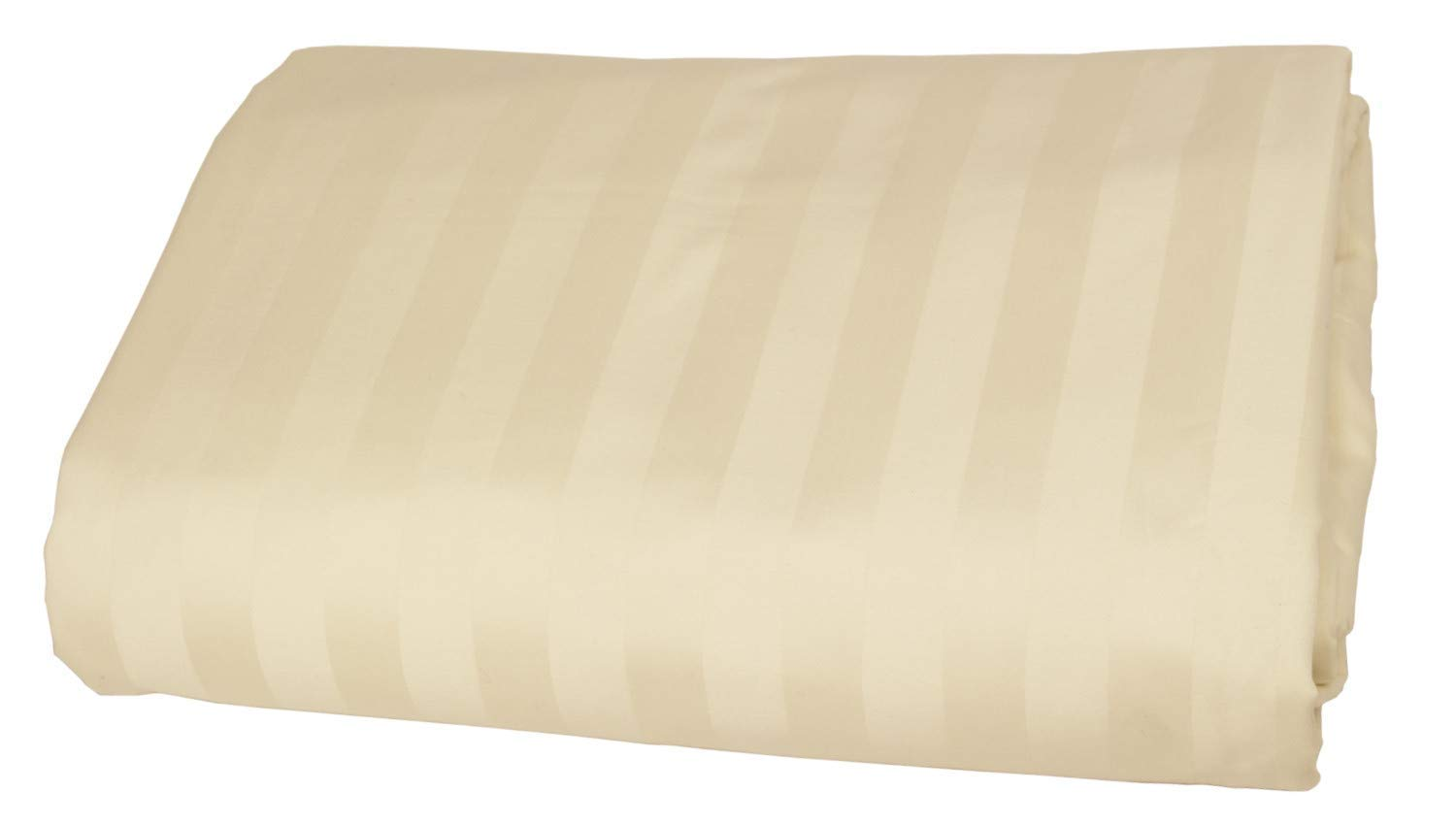 Luxurious Collections 1 PC Fitted Sheet Extra Long Fit Upto 20'' inches Deep Pocket Stripe 400 Thread Count Egyptian Quality Cotton (Twin XL,Ivory). by Luxurious Collections
