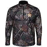 The Woods Majestic Houston Astros Camo 1/2 Zip Jacket