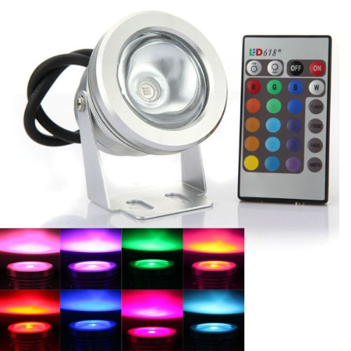 Led 10W Rgb Colour Changing Flood Light Ip65 - 8