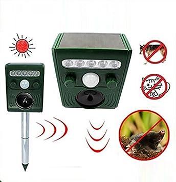 Repelente ultrasónico solar para gatos, perros, zorros y otros animales: Amazon.es: Electrónica