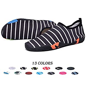XPKWS Water Shoes for Women Men Quick-Dry Swim Shoes Outdoor Mens Womens Surf Boating Sports