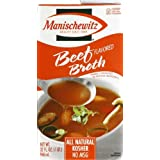 Manischewitz Beef Broth, 32-Ounce Packages (Pack of 12) by Manischewitz