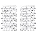 Clear Acrylic Poker Chip Tray With Cover-Set of 10 By YH Poker