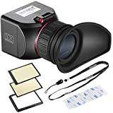Neewer NW-S1 3X Optical Magnification Foldable Viewfinder with 3 Strong Adhesive Tapes for Canon 5DII 7D 6D D300S D700 D90 5DII 7D 6D 50D 40D D700 D300S D3 D800 D610 Camera with 3 inches Screen