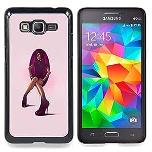 - Stiletto Heel Woman - - Cubierta del caso de impacto con el patr??n Art Designs FOR Samsung Galaxy Grand Prime G530H G5308 Queen Pattern