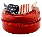Impact Custom Professional Sports Mouthguard with Trim for Gag Reflex American Flag