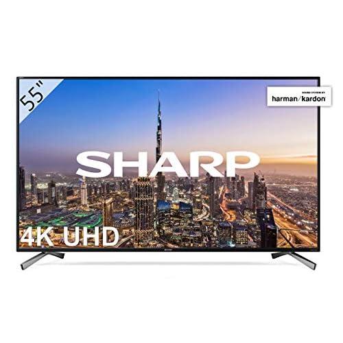 Sharp LC 55UI8652E UHD Smart TV Slim de 55 resolución 3840 x 2160 HDR 3X HDMI 2X USB 1x USB 3 0 Color Negro