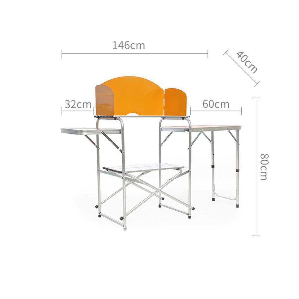 Gengyouyuan Tragbarer mobiler Küchen-Multifunktions-Klapptisch Autoküche im Freien tragbarer Satz