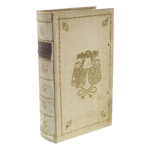 - Classic Vintage Style Book Box | Decorative Storage Purple Ivory Gold