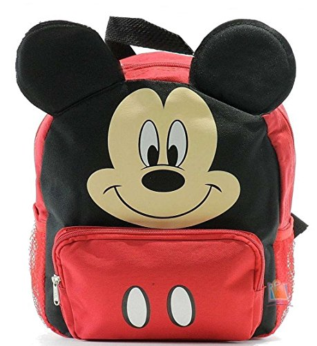 New Mickey Mouse Club House 3D Ears Small Toddler Backpack-8680 (Backpack For Boys Mickey Mouse)