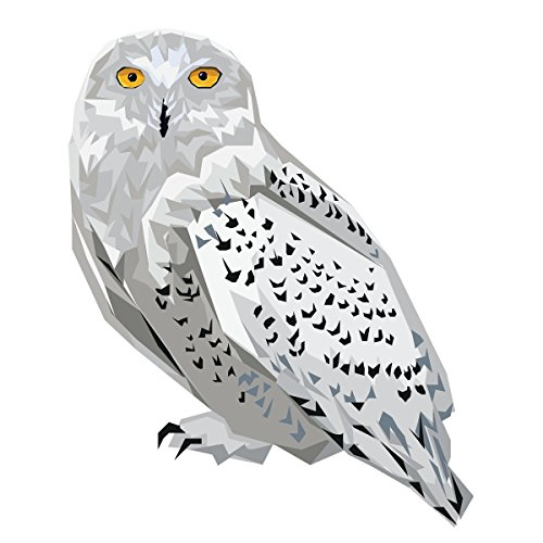 Low-Poly Snowy Owl Decal -Indoor and Outdoor use!