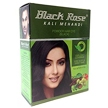 02f2b2c519d59 Amazon.com : 20 Sachets Black Rose Kali Mehandi Black Henna Herbal ...