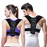 Belletek Back Posture Corrector for Women & Men - Effective/Comfortable Posture Brace/Figure corrector for Slouching & Hunching - Discreet Design - Clavicle Support- Improving Posture-Relief Back Pain