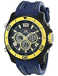 U.S. Polo Assn. Sport Men's US9322 Navy Rubber Analog Digital Watch