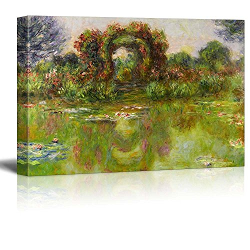 Lily Pond The Roses (Bassin Aux Nymphéas Les Rosiers) by Claude Monet Impressionist Art
