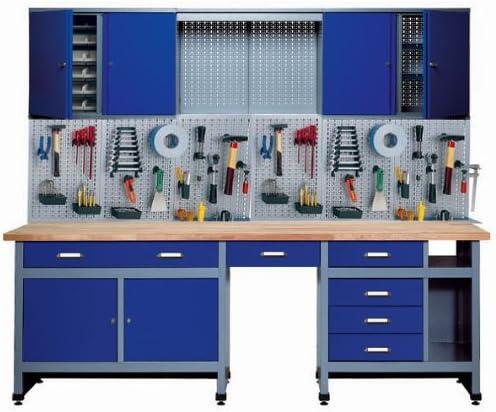 Lochwand solo 3-teilig 1,20 m Metall Werkzeugwand Werkstatt Werkzeug grau Neu