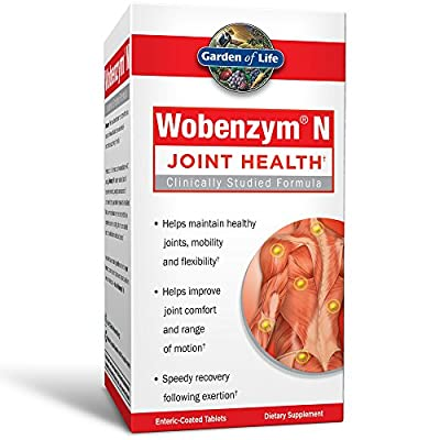 Joint Support Supplement - Wobenzym N Systemic Enzymes, 100 Tablets by Garden of Life