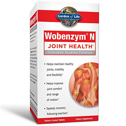 Garden of Life Joint Support Supplement – Wobenzym N Systemic Enzymes, 100 Tablets