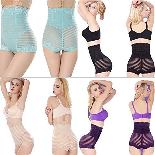 PERFECT UNDIES Women Body Shaper High Waist Tummy Control Panty Slim Waist Trainer (L, Beige)