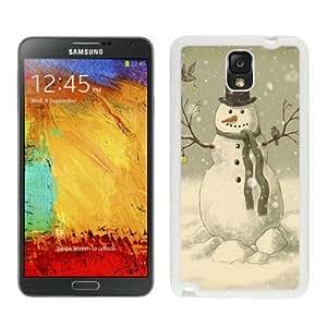 Custom-ized Design Christmas Snowman White Samsung Galaxy Note 3 Case 3