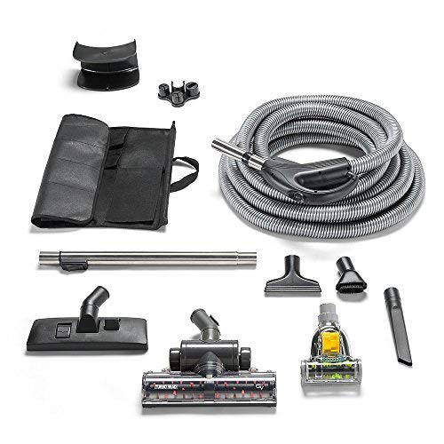 Central Vac Vacuum System - GV Universal Central Vacuum Hose Kit with Turbo Nozzles