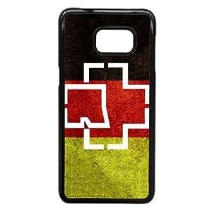 Funda Samsung Galaxy S6 Edge Plus, la nota 5 Borde caso del teléfono celular Funda Negro rammstein logo H2G4FI
